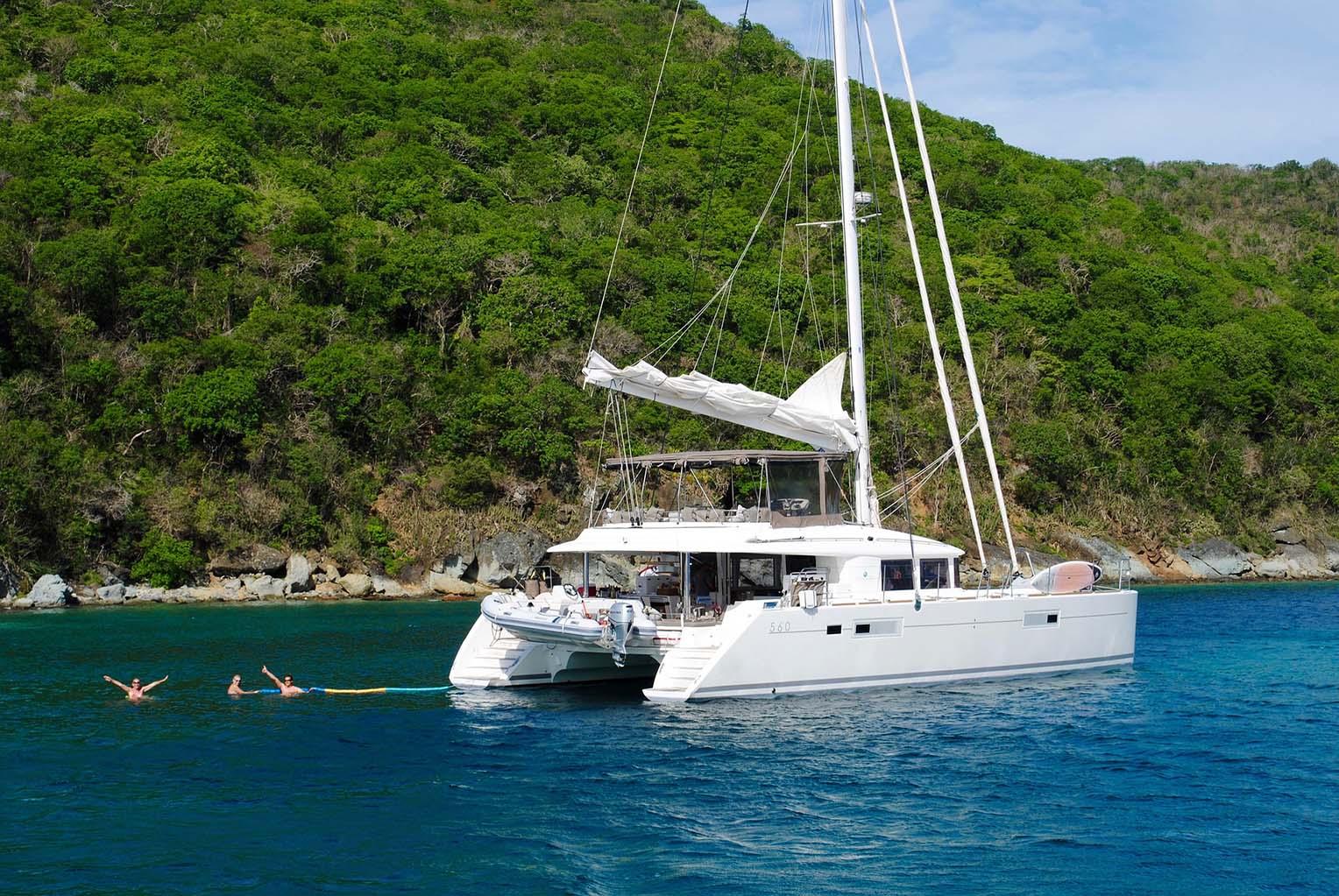 Sailing catamaran in Croatia